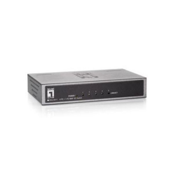 LevelOne FEU-0511 4 Port Fast Ethernet Switch + 1 MMF SC