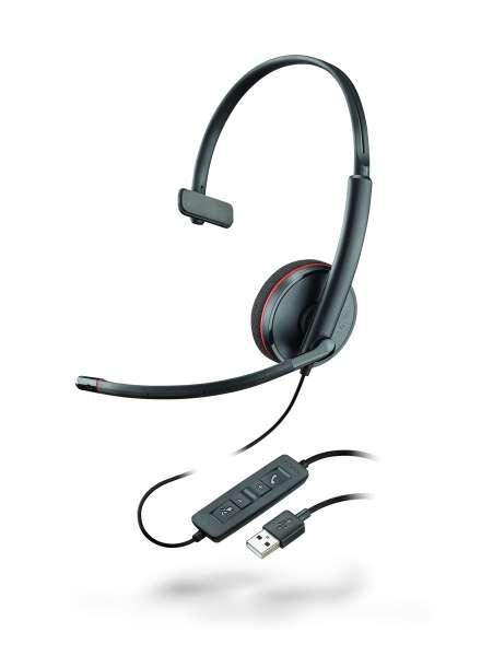 Plantronics Headset Blackwire C3210 monaural USB -Schwarz-