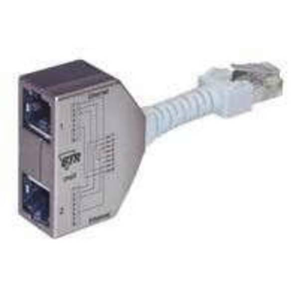 RJ45 Anschlussverdoppler -Telefon/Ethernet- 2 Stück