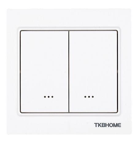 TKB Home Wandschalter mit Zweifach-Wippe (Eckiger Rahmen)